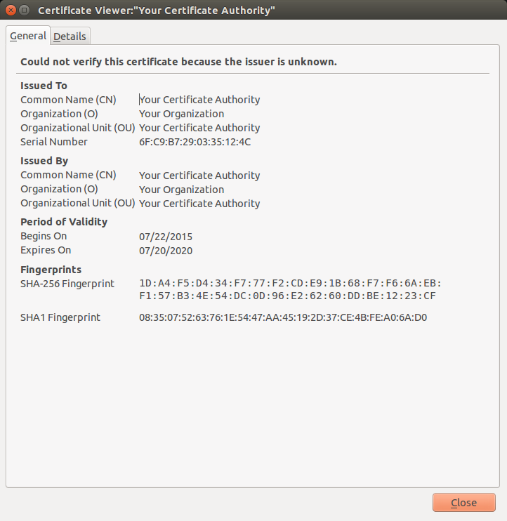 How To Generate A Self Signed Root Certificate With Cf Ssl